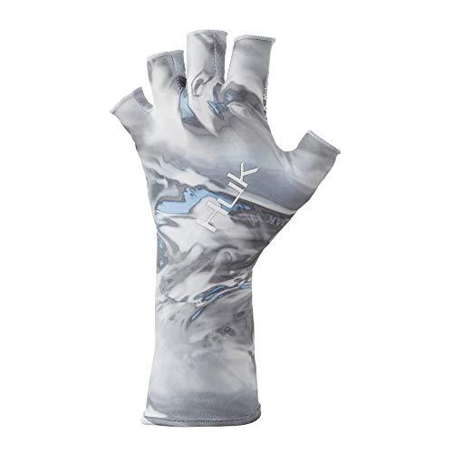 Huk Men's Mossy Oak Hydro Sun Glove |快干无指钓鱼手套与UPF 30+防晒,Mossy Oak Hydro标准,M/L