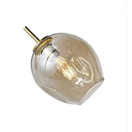LIANGANAN Moderna lámpara de cristal de estilo nórdico for la sala de la lámpara Lámparas colgantes accesorios de iluminación iluminación de la lámpara Por escalera (Lampshade Color : Dry Color)