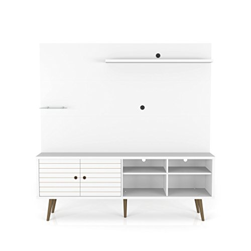 Manhattan Comfort Liberty Complete Living Room Entertainment Center and TV Stand, White -  214BMC6