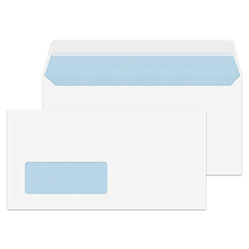 Purely Everyday 23884 Briefumschläge Haftklebung Mit Fenster Weiß DL 110 x 220 mm - 100g/m² | 500 Stück