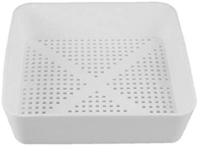 8 1 2 inch Square Floor Sink Commercial Drain Cover Strainer Basket with 3 16 inch Holes for product image
