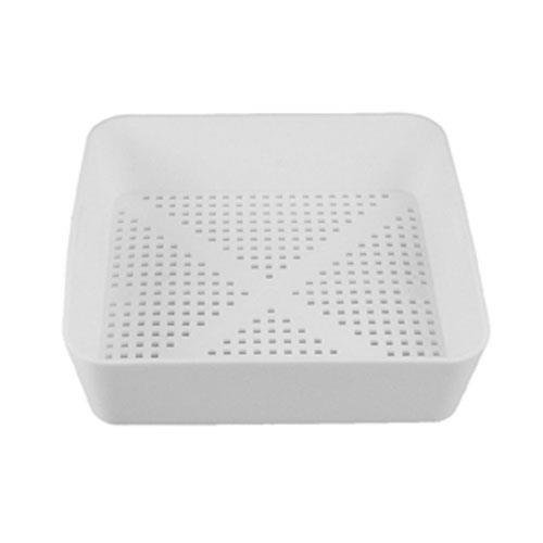 8 1/2 inch Square Floor SinkCommercial Drain Cover Strainer Basketwith 3/16 inch Holes for Restaurant Use
