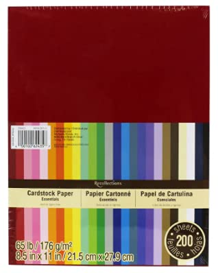 Recollections Cardstock Paper, Essentials 20 Colors - 200 Sheets 8-1/2 X 11
