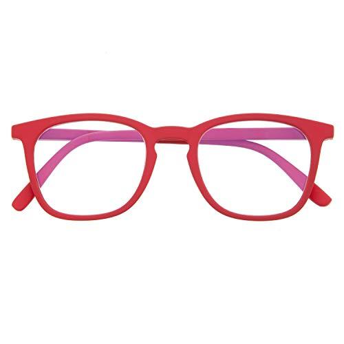 DIDINSKY Blaulichtfilter Brille für Damen und Herren. Blaufilter Brille mit stärke oder ohne sehstärke für Gaming oder Pc. Gummi-Touch-Tempel und Blendschutzgläser. Ferrari +2.5 – TATE