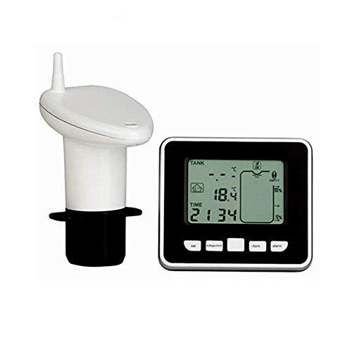biteatey Füllstandsanzeige Wassertank Öltank Ultraschall Flüssigkeitsstand-Sensor Drahtloser Füllstandsmesser mit Temperaturanzeige-Sensor-Wasserspiegel-Messgerät für Zisterne, Regenwassertanks nice