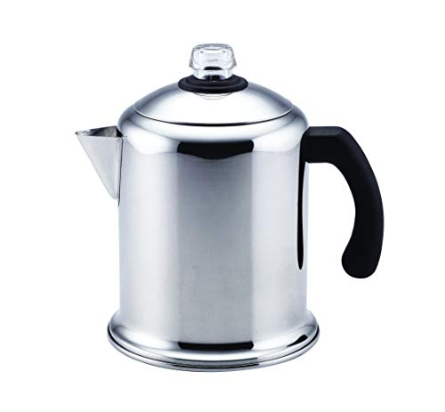 Farberware 50124 Classic Stainless Steel Yosemite 8-Cup Coffee Stovetop Percolator