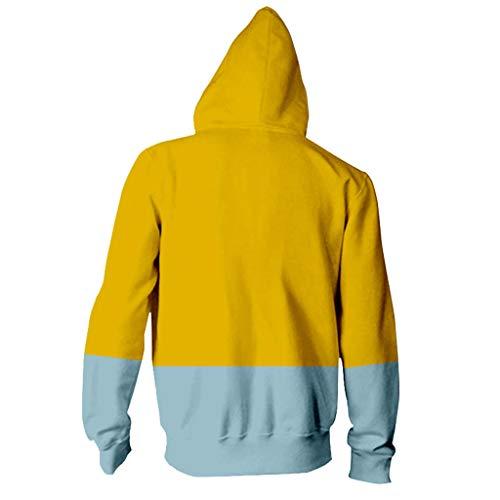 Komise Winter Warme Mantel Liebhaber Katzendruck Hoodie Hip Hop Reißverschluss Farbe Gestempelt Langarm Bluse Mantel