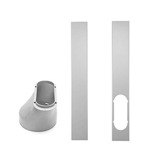 Yestter FensteradapterLokale Klimageräte-Zubehör Progress Component Kit, Ersatzteil-Set Mit Abluftschlauch, Fenster- Und Geräteadapter - Passend Für Alle Geräte (Window Plate+Adaptor)