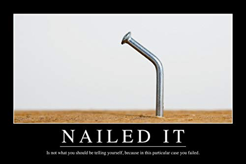 Nailed It Funny Demotivational Cool Wall Decor Art Print Poster 24x36