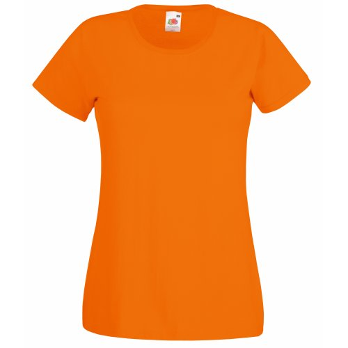 Camiseta de Fruit of the Loom para mujer, ajustada, de disti
