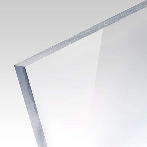 PLEXIGLAS® Platte transparent Zuschnitt für Bilderrahmen, Vitrinen, Treppen und Box, Stärke: 3mm, Maße: 21x30 (A4)