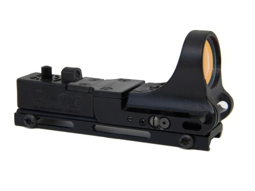C-MORE Systems Railway Red Dot Sight with Standard Switch, Black, 6 MOA