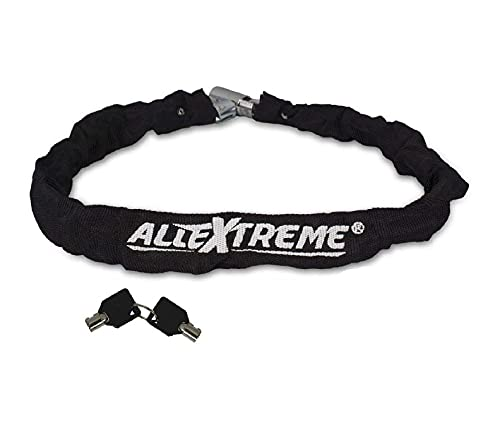 AllExtreme EXBHCL1 Heavy Duty Stainless Steel Helmet Lock Anti-Theft Luggage Secure Chain...