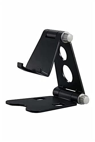 Tablet Soporte de la Tableta del Escritorio Soporte de múltiples ángulos Plegables para el teléfono móvil Universal iPhone Samsung Galaxy Huawei 4-8 Pulgadas (Color : Black)