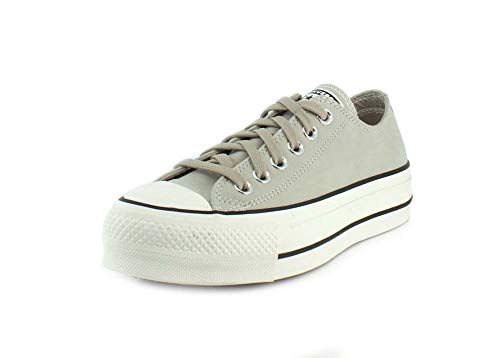CONVERSE Chuck Taylor All Star Lift OX Zapatillas Moda Femmes Beige Zapatillas Bajas