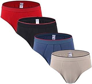 HWOEMX 4pcs/lot Men Briefs Underwear Convex Pouch Panties Mens Brief Jockstrap Hot Cotton Low Rise Short Underpants Men's Slips