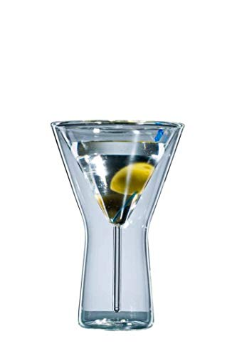 Bloomix Bloo Martini Double-Walled Thermal Bar Glasses 200 ml Set of 6