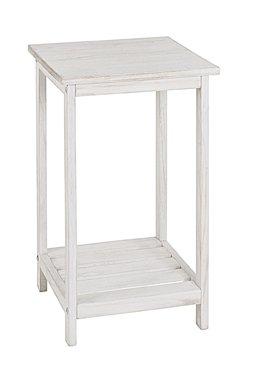 Haku-Möbel 26315 Beistelltisch 32 x 32 x 59 cm, weiß gewischt