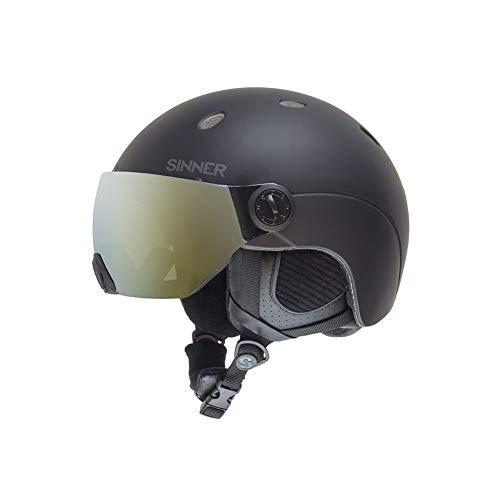 SINNER Skihelm met Visier voor Heren en Vrouwen - Ski en Snowboard Helm met Bril & Verstelbare Grote