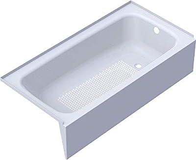 Kaldewei 215514000001 Heavy guage titanium steel enamel Cayono 5ft tub right hand bathtub, Alpine White