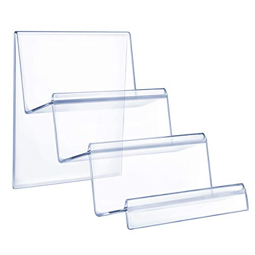 Cabilock Acrylic Clear Desktop Wallet Storage Rack Shelf Wallet Display Stand Holder Purse Handbag Organizer Decoration (3 Tier)