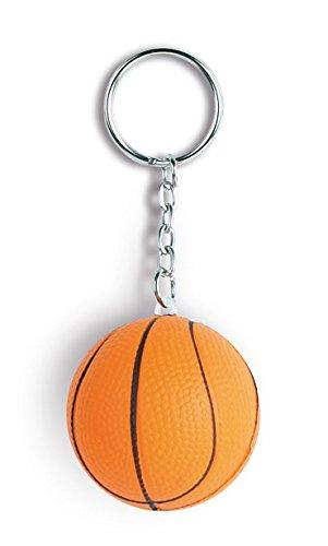 Simpatico portachiavi antistress anti stress a forma di palla pallone da basket