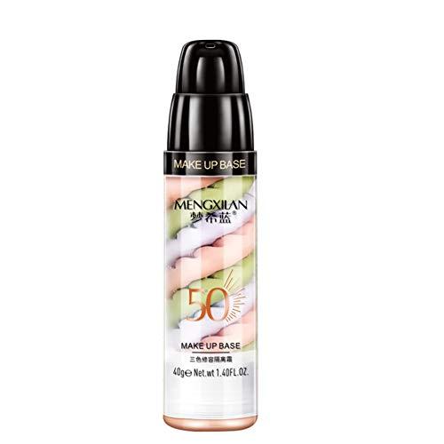 HalfSun Makeup Base Foundation-3 Color Makeup Primer Moisturizing for Blemishes Even 3 Color Isolation Cream- Facial That Is Long Lasting