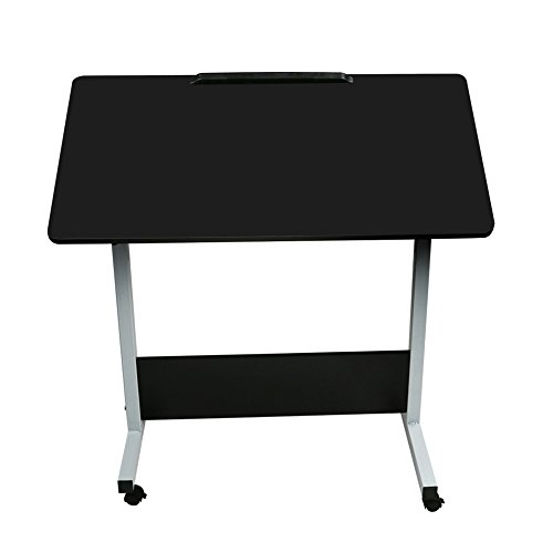 Ydida 80cm40cm Black Adjustable Laptop Stand Creative Tea Table Multifunctional Fashion Modern Simple Coffee Home Multi-Function Table Modern Folding Computer Desk