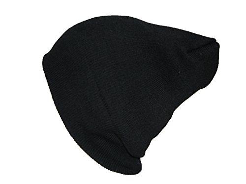 Unisexe Noir Léger surdimensionné Baggy aromathérapie Scouch type en tricot de ski Bonnet