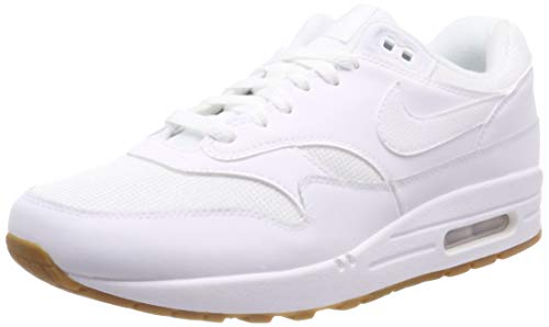 Nike Herren Air Max 1 Laufschuhe, Mehrfarbig (White/White/White/Gum Med Brown 109), 45 EU