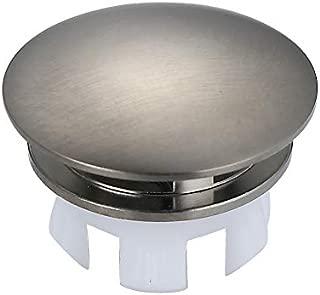 Bathroom Ceramic Sink Brass Overflow Cap Brushed Nickel