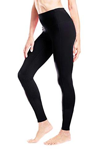 Yogipace Petite Length Women's High Waisted Yoga Leggings Workout Gym Active Pants Back Pocket Black Size S
