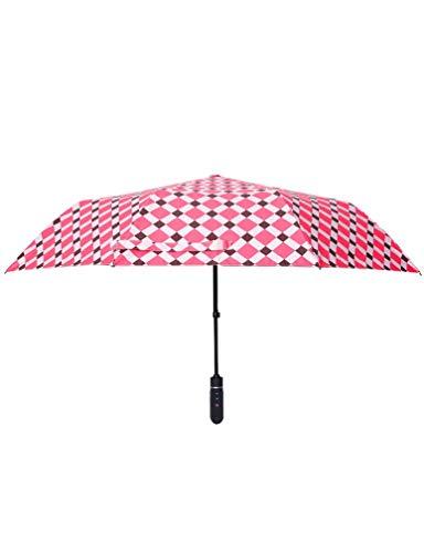 HJQJPYS666 Regenschirm, Vollautomatischer Kreativer Hochwertiger Elektrischer Regenschirm-One-Touch-Schalter, Geeignet Für Frauen, Geeignet Für Bankette (Color : Red)