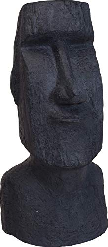 made2trade Handgemaakt Moai beeld – sculptuur voor binnen en buiten van weerbestendig MGO steen – hoogte 55 cm