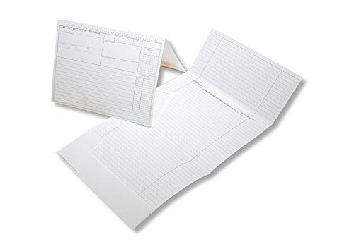 200 Karteimappen für die Praxis | mit Einstecktasche und Abheftvorrichtung | DIN A5 Format