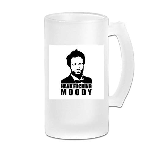 DJNGN Gedruckte 16oz Milchglas Bier Stein Tasse Tasse Hank Fucking Moody Californication - Grafikbecher