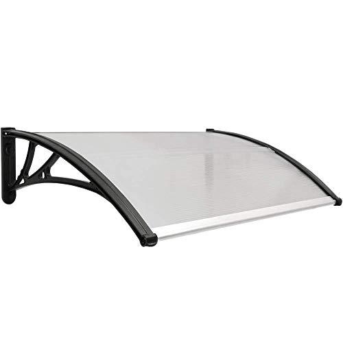 PrimeMatik - Tejadillo de protección 100x60 cm Gris Oscuro.