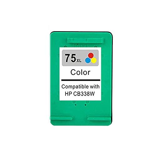 YXYX Cartucho de tóner compatible para HP74XL 75XL para HP Deskjet D4260 D4280 D4360 OfficeJet J5725 J5730 J5740 J5750 J5780, negro, cian, magenta y amarillo