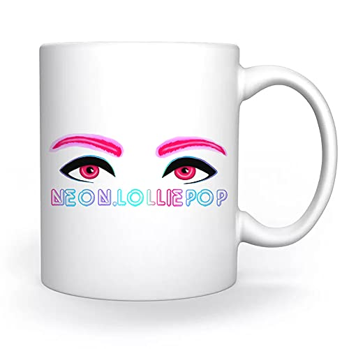 Neon Eyes Mok Wit Voor Koffie Thee Cappuccino Cacao Mug White Coffee Tea