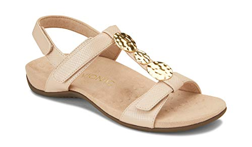 Vionic Women's Rest Farra Backstrap Sandal - Ladies Adjustable Sandals with...