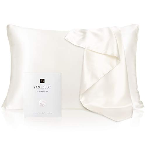 YANIBEST Silk Pillowcase for Hair and Skin - 21 Momme 600 Thread Count...
