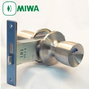 MIWA(美和ロック) 145HMD-8 145HMタイプ 玉座 ドアノブ 交換 取替えセット 室外表示ノブ・室内サムターン145A 狭框アルミ扉用
