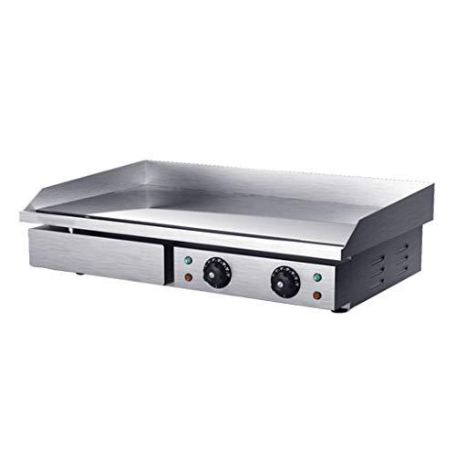 NO BRAND Plancha Eléctrica Comercial de Acero Inoxidable/Placa Plana/Parrilla, Parrilla/Parrilla de Cocina/Sartenes Fritas - 4.4KW para Cocinar Barbacoa(73 * 47 * 23 Cm)