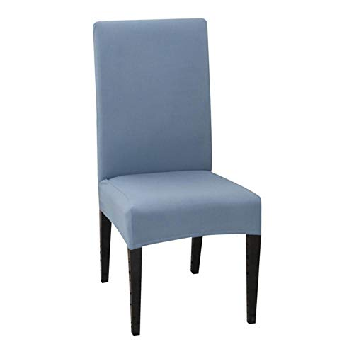 LLAAIT 1/2/4/6PCS Solid Color Chair Cover Spandex Stretch Elastic Slipcovers Dining Room Chair Covers For Banquet Hotel Kitchen Wedding,grey blue,China