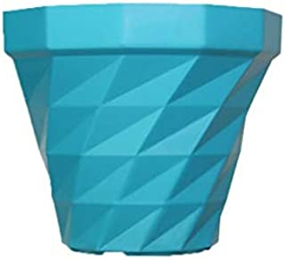 MB Traders 3Dee Shape Fresh Plastic Garden Pot, Sky Blue