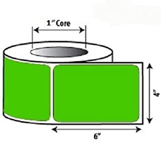 20 Rolls Green 4x6 Direct Thermal 250 Labels Per Roll for Zebra Eltron Barcode Shipping Desktop Printers ZP450 LP2844 LP2442 TLP2844 GC420d GC420t GK420d GK420t GX420d