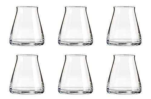 set 6 bicchieri da whisky in cristallo ml 360