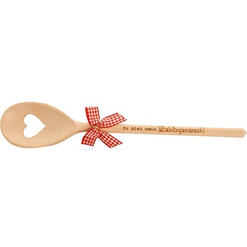 Spruchreif PREMIUM QUALITÄT 100% EMOTIONAL · Kochlöffel aus Holz mit Herz · Kochlöffel mit Gravur Lieblingsmensch · Holzlöffel · Geschenk Hochzeit · Lieblingsmensch Geschenk · Kochlöffel mit Schleife