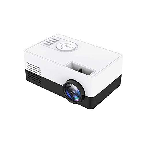 LED Mini Projector, 1080P HD High Lumen Portable Home Media Video Projector, Compatible with HDMI/USB/TF Card/ (Color : Black)