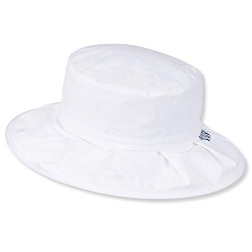 Sterntaler zusammenfaltbarer Reif-Hut mit Pop-up Funktion , Alter: ab 2-4 Jahre, Größe: 53, Weiß